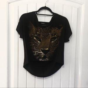 Tops - Cheetah High Low T-Shirt Small